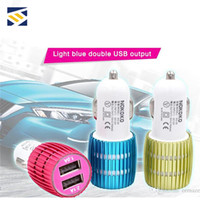 Wholesale iphone 5c usb charger for sale - Group buy BRAND NOKOKO Metal Alloy Shell With led Light A A Dual Port USB Car Charger Adapter for Apple iPhone S C S Samsung Galaxy