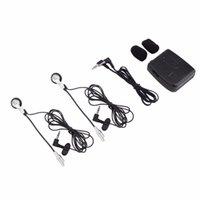 kask walkie talkies kulaklıklar toptan satış-Motosiklet Motosiklet Kask Interkom Walkie Talkie FM Radyo Haberleşme Interkom Kulaklık Kulaklık Taşınabilir Toz Geçirmez Kulak Kancası Kiti