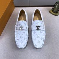 формальные кроссовки оптовых-Роскошные дизайнерские модные мужские туфли из натуральной кожи Плоские формальные туфли Peas casual shoess кроссовки кроссовки Лучшее качество размер 11