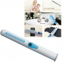 ultra mor ışıklar toptan satış-Traveling Sterilizer Portable UV Sanitizer Hand Wand Ultra Violet Light Kill Bacteria Germ Sterilizer with Retail box MMA1804