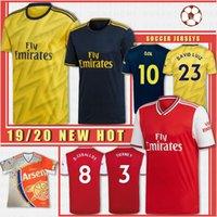 üniformalar toptan satış-Tayland Erkekler Futbol Formalar 2019 2020 Lichtsteiner RAMSEY 2019 2020 GUENDOUZI Futbol Üniformalar Gömlek Custom Made Yeni
