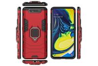Wholesale z magnets resale online - Car Holder Magnet Suction Case For Huawei Honor Pro P Smart Z Samsung A80 A90 Hybrid Shockproof Hard PC TPU Finger Ring Defender Covers
