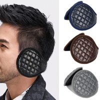 Wholesale protection cycling resale online - Solid Winter Ear Muffs Cycling Sports Men Adults Cover Outdoor Accessories Warmers Plush Leather Protection Foldable Adjustable