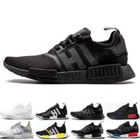 Wholesale boots red color resale online - Cheap NMD R1 Running Shoes OG Japan Triple black White Solar Red Core Oreo Tri Color Men Women Designer Trainer Sport Sneaker Size