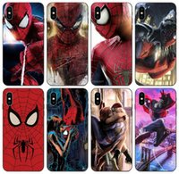Wholesale iphone xr marvel case for sale – best TongTrade Spider Man Marvel Avengers Art Superman Original Case For iPhone Pro X XS Max XR s s c Samsung J8 S10 Huawei P20 P9 Case