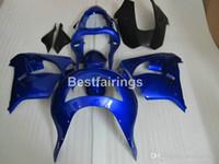 Wholesale custom painted kawasaki ninja for sale - Group buy Free custom paint body parts fairing kit for Kawasaki Ninja ZX9R blue black fairings set ZX9R YW25