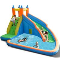 tobogán de agua para niños al por mayor-Parque acuático inflable gigante inflable Bouncing Castle para niños | Diversión Inflable Casa de rebote Slide Castle Playhouse Pool-Party