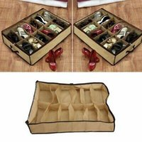 Wholesale organizers for shoes resale online - Closet Shoes Organizer Under Bed Storage Holder Box Container Case Storer For Shoes ZZA1374