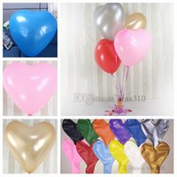 Wholesale giant wedding balloons resale online - 36 inch heart shaped latex balloon color love balloon giant ball wedding balloon valentine s day wedding reception decoration T2I5078