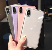 ingrosso casi cristallini del telefono delle cellule-Casi antiurto TPU per Iphone 11 Pelle Pro Max XR XS MAX 8 copertura posteriore 7 6 6S Inoltre silicone del gel di cristallo del telefono cellulare trasparente