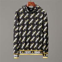 sweatshirt vintage toptan satış-18-19ss Kış Avrupa Fransa Paris Amerikan Moda Lüks Vintage Delik Kazak Rahat Kadın erkek Kapüşonlu Hoodie Sokak Tasarımı