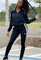 más suéteres de tamaño al por mayor-2019 Carta Imprimir 2 Unidades Set Top Y Pantalones Mujeres Chándal Primavera Más Tamaño Traje Casual Sudadera Mujeres Suéter Traje de ropa deportiva