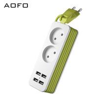 güç kablosu kablosu toptan satış-Seyahat Güç Şeridi Taşınabilir Şarj Istasyonu 4 USB Dalgalanma Koruyucusu Olmadan Kısa Uzatma Kablosu için Ofis / İş Gezisi