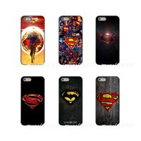 iphone 5s bedeckt holz großhandel-Superman logo holz hard phone case abdeckung für apple iphone x xr xs max 4 4 s 5 5 s 5c se 6 6 s 7 8 plus ipod touch 4 5 6