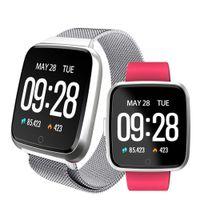 умные часы водонепроницаемые яблоко оптовых-Y7 Смарт Фитнес-Браслет Сердечного ритма Артериального Давления Фитнес-Трекер Смарт Браслет Водонепроницаемый Кислород Смарт Спортивные Часы для apple, iphone