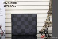 Wholesale small card boxes online - Paris style wallet famous women luxury Designer brand wallets coated canvas and real leather small wallets with zipper coin pocket no box