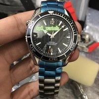 cara de plata reloj deportivo al por mayor-Boutique Reloj de alta calidad para hombres Relojes de cara negra Relojes mecánicos automáticos Relojes de acero inoxidable plateado Envío gratis