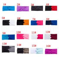 bükülmüş saç bantları toptan satış-Kadın Büküm Bandı Elastik Streç Hairbands Moda Türban Bantlar Yoga Headwrap Spa Kafa Bandı Saç Aksesuarları 28 renk KKA7510