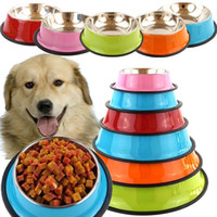 Wholesale cat stainless steel feeder for sale - Group buy 2020 dog bowls Stainless Steel Puppy Dog Feeder Feeding Food Water Dish Bowl Pet Dogs Cat New dog bowl stainless steel