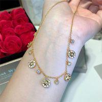 colar de compasso de ouro venda por atacado-Rose Gold Colares Feminino 925 Sterling Silver Oito pontas-Estrela Bússola Colares Designer Rose Des Vents Jóias