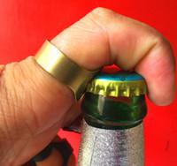Stainless steel ring opener creative beer bottle opener ring opener bar beer starter WCW544