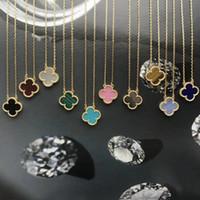 abalone silber halskette großhandel-Hängende Halskette der 1.5cm Blume mit Naturstein und Oberteil für die Frauen, die Halskettenschmucksachegeschenk und Markennamen wedding sind Freies Verschiffen PS6050