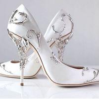 metal filigree toptan satış-Süslü metal Telkari Yaprak dekor Kadınlar Çok Renkler elegent Kadın Ayakkabı Pompaları Stiletto yüksek topuk gelin Düğün Yaz Ayakkabı 4ads