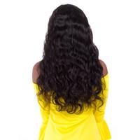 bonés de renda completos para perucas venda por atacado-Glueless nova chegada não transformados virgem remy cabelo humano longo cor natural onda do corpo full lace top cap peruca para as mulheres