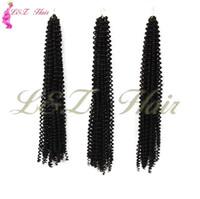 freetress волосы оптовых-18-дюймовый черный / коричневый шнурок для волос freetress box Вязание крючком косы Наращивание волос
