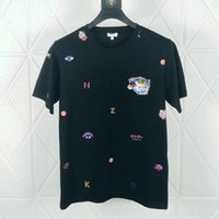 t-shirt männer schwarz punk großhandel-Goldtiger Hauptmannt-shirt Schwarzmode übersteigt T-Stück Qualitätsblaues Luxuskleidungsmarken-Kurzschlusshülse Sommer-Punkrotes Auge-Entwerfer-T-Shirt