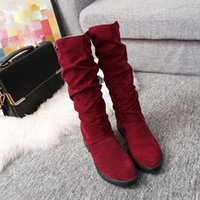 Wholesale sexy girls snow boots for sale - Group buy Women Girls Fashion Autumn Winter Ladies Sexy Sweet Outdoor Boot Stylish Flat Flock Shoes Snow Boots Botas planas Y200115