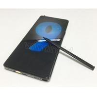 pluma 64 al por mayor-El teléfono inteligente Note9 Note 9 de alta calidad con lápiz 6.5 5.8 pulgadas Android 8.0 sim dual se muestra 128G ROM 4G LTE con un teléfono celular con huella digital