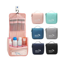 Wholesale nylon travel hanging wash bag resale online - New fashion Waterproof Travel Cosmetic Bag Neceser Hanging Wash Bag Neutral Make Up Bag Organizer Bathroom Wash Bags