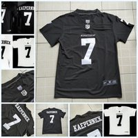 camisetas de fútbol de la universidad al por mayor-Mens IMWITHKAP Jersey 7 COLIN KAEPERNICK IM WITH KAP 100% Stitched College Football Jersey S-3XL Negro Blanco Envío gratis