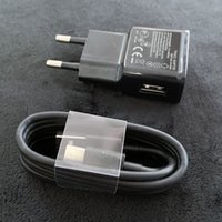 Wholesale micro hd cable resale online - Micro usb type c Charger EU Plug Wall for Alcatel C X C V X L U5 HD S D A3 XL A5 LED V charging data cable