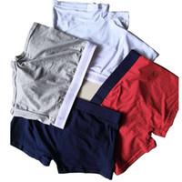 Wholesale black net underwear resale online - Fashion designer solid color net color men s boxer briefs cotton men s underwear cotton men s pants top underwear