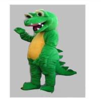 grünes dinosauriermaskottchen großhandel-2019 Factory Outlets hot GRÜN DINOSAUR DRAGON MASCOT COSTUME ERWACHSENE GRÖßE CARTOON