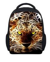 ingrosso i capretti stampano il leopardo dei zainhi-Raffreddare Zaino per bambini Piccolo 3D Leopard Print Scuola per bambini Zaino Stampa animale Ragazzi Bambini Libro Borse Schoolbag