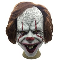 Wholesale making cosplay props resale online - Halloween Pennywise Clown Mask Stephen King Movie Adult Horror Joker Full Face Costume Party Prop Cosplay Horror Halloween