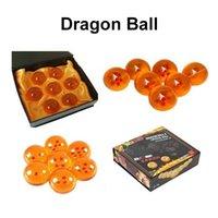 conjunto de estrelas dragonball z venda por atacado-Dragon Ball Z 3.5CM Novo Na Caixa de DragonBall 7 Estrelas Bola De Cristal Dragon Ball Z Bolas Conjunto completo de varejo