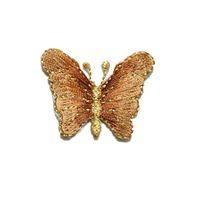 ingrosso decorazioni farfalle marrone-4 cm ricamato cucire ferro sulle toppe farfalla cambiamento graduale colori marrone badge per borsa jeans cappello t shirt diy appliques decorazione del mestiere
