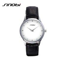 Wholesale geneva women luxury watches resale online - SINOBI Classic Watch Women Fashion Top Brand Luxury Leather Strap Ladies Clock Geneva Quartz Wrist Watch Relogio Feminino
