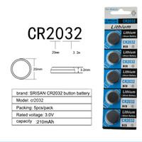 lithium-taste großhandel-5 stücke / karte batterie CR2032 Knopfbatterien BR2032 DL2032 ECR2032 Zellmünze Lithium Batterie 3 V CR 2032