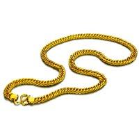 панк-рок-цепи оптовых-8 мм 60 см мужская мода хип-хоп рок золотой цвет ожерелье простой классический поп лошадь хлыст ожерелье панк толстые цепи ювелирные изделия Оптовая