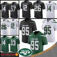 Wholesale bell for sale - Group buy 95 Quinnen Williams jersey New York Jamal Adams Jets LeVeon Bell C J Mosley football jerseys