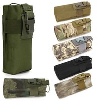 Wholesale water bottle bag belt resale online - Newest New Tactical Molle Radio Walkie Talkie Belt Pouch Bag Water Bottle