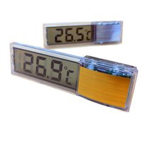 Wholesale free room thermometer resale online - 200PCS New Multi Functional LCD D Digital Electronic Temperature Measurement Fish Tank Temp Meter Aquarium Thermometer