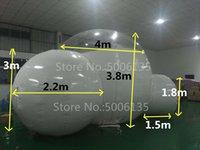ingrosso china gardening-Tenda gonfiabile della bolla del doppio canale di 4m con il tunnel PER LA VENDITA Produttore della Cina, tende gonfiabili per le fiere commerciali, tenda gonfiabile del giardino