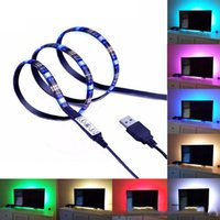ingrosso macchina fotografica usb 5m-LED Light Strip 5M 150leds LED 5050 RGB USB Light Strip con 5v cavo USB e Mini Controller per TV / Laptop retroilluminazione
