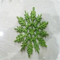 Wholesale turquoise decor for sale - Group buy Pack of Turquoise Glitter Snowflake Christmas Ornaments Outdoor Hanging Decoration Christmas Party Decoration Home Decor